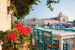 En turnera i Sicilien Arkivfoto