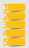 En två tre fyra fem - vektorframstegsymboler stock illustrationer