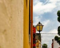 En typisk gatabelysning i Tenerife arkivfoto