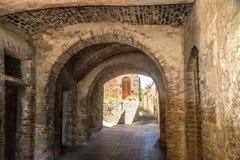 En typisk husplats i Tuscany Italien Royaltyfri Bild