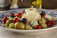 En typisk portugisisk maträtt med codfish kallade Bacalhau gör Porto Royaltyfria Bilder