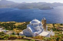 En typisk sikt av de grekiska öarna Royaltyfria Foton