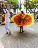 En typisk sikt i Cartagena Colombia royaltyfria foton