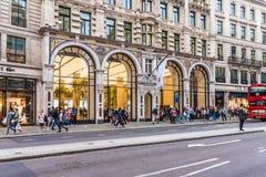En typisk sikt i centrala London UK royaltyfri fotografi