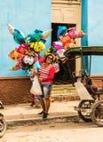 En typisk sikt i Trinidad i Kuba royaltyfria bilder