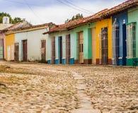 En typisk sikt i Trinidad i Kuba arkivbild