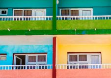 En typisk sikt i Varadero i Kuba arkivfoton
