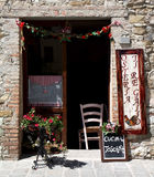 En typisk Tuscan restaurang, Italien Royaltyfri Bild