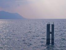 En tyst afton på gummilacka Leman Arkivfoto