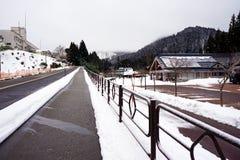 En tyst byräkning i snö Arkivbilder