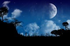 en tyst natt stock illustrationer