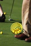 En un campo de golf Foto de archivo