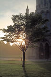 En un cierre de la catedral fotografía de archivo