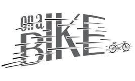En un ejemplo hecho a mano de la bici para el cartel en estilo del inconformista del vintage fotos de archivo libres de regalías