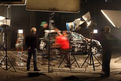 En un estudio cinematográfico Fotos de archivo libres de regalías