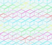 En un fondo azul de cuadrados coloreados Imágenes de archivo libres de regalías