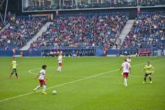 En un partido de fútbol imágenes de archivo libres de regalías