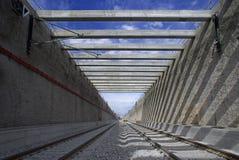 En un túnel ferroviario Fotos de archivo