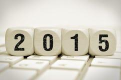 2015 en un teclado Imagen de archivo