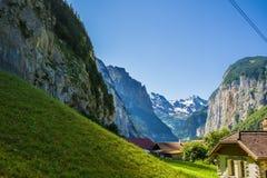 En un valle suizo foto de archivo libre de regalías