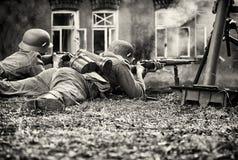 En una batalla Imagen de archivo