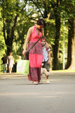 En una caminata Foto de archivo libre de regalías