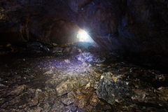 En una cueva Imágenes de archivo libres de regalías