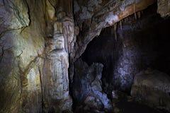 En una cueva Imagen de archivo libre de regalías