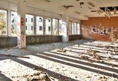En una fábrica abandonada Foto de archivo