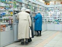 En una farmacia Imagenes de archivo