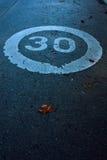 30 en una forma redonda Foto de archivo libre de regalías