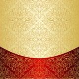 El fondo de lujo adornó un modelo del oro. Imagenes de archivo
