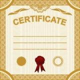 Plantilla del certificado. Imágenes de archivo libres de regalías