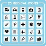 25 iconos médicos. Fotos de archivo libres de regalías