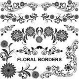 Fronteras florales - sistema del vector. Fotografía de archivo
