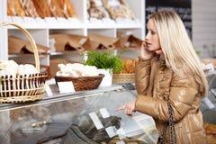 En una panadería Foto de archivo