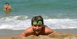 en una playa Fotos de archivo libres de regalías