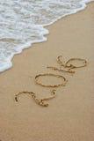 2016 en una playa Foto de archivo libre de regalías