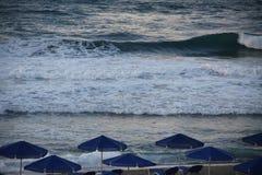 En una playa del mar fotografía de archivo libre de regalías