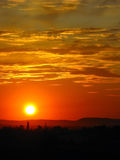 En una puesta del sol Foto de archivo