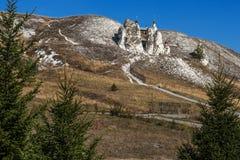 En underbar tempel i de krit- bergen Royaltyfri Foto