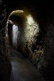 En underjordisk passage royaltyfria bilder