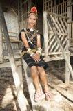 En ung dam från den Rungus person som tillhör en etnisk minoritet Royaltyfri Bild