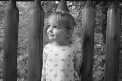 En ung flicka på en kabin Royaltyfri Foto