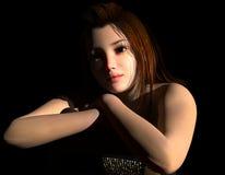 En ung flicka på platsen Arkivbild