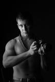 En ung man. fotografering för bildbyråer