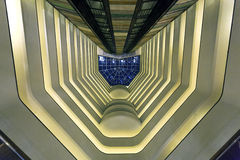 En unik inredesign av en byggnad Royaltyfri Fotografi