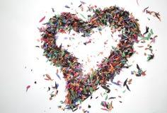 En unik konfettihjärta Royaltyfri Foto