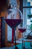 En unik skyttel för hemlagat vin Arkivfoto