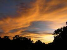En unik solnedgång över Grand Canyon Arkivfoto